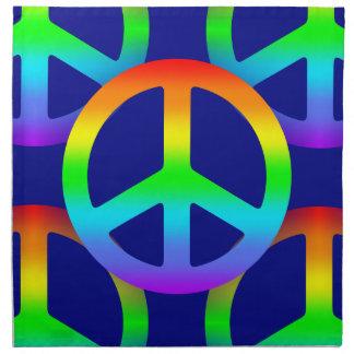 虹のピースサイン ナプキンクロス