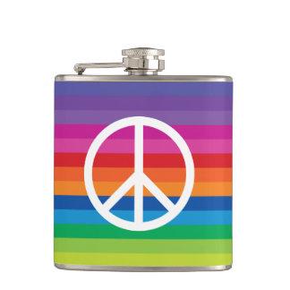 虹のピースサイン フラスク