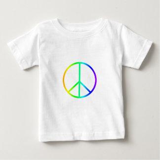 虹のピースサイン ベビーTシャツ