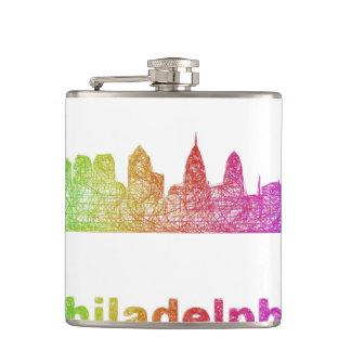 虹のフィラデルヒィアのスカイライン フラスク