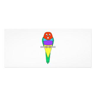 虹のフィンチの鳥。 カラフルGouldian. ラックカード