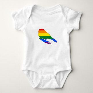 虹のフィンチ ベビーボディスーツ