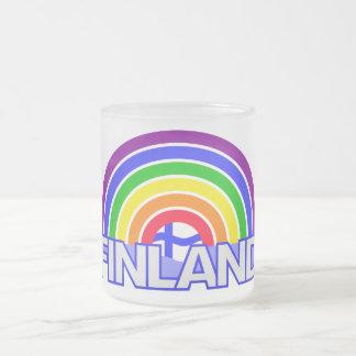 虹のフィンランドのマグ フロストグラスマグカップ