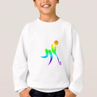 虹のフィールドホッケー スウェットシャツ