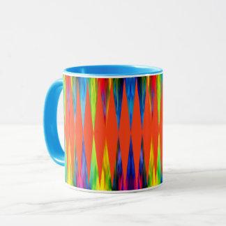 [虹のフェスタ]幾何学的な明るい道化師 マグカップ