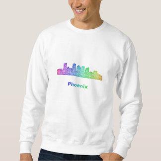 虹のフェニックスのスカイライン スウェットシャツ