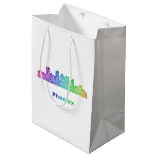 虹のフェニックスのスカイライン ミディアムペーパーバッグ