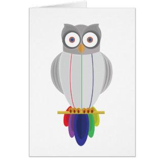 虹のフクロウ カード