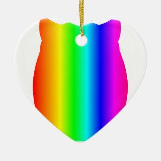 虹のフクロウ セラミックオーナメント