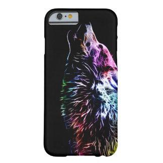 虹のフラクタルのオオカミ BARELY THERE iPhone 6 ケース