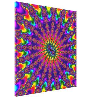 虹のフラクタルの破烈によって伸ばされるキャンバス キャンバスプリント