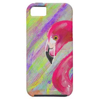 虹のフラミンゴのプリント iPhone SE/5/5s ケース