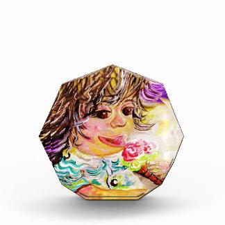 虹のフルーツのアイスクリーム 表彰盾