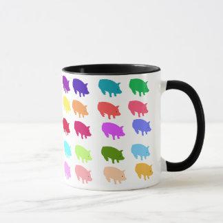 虹のブタ マグカップ