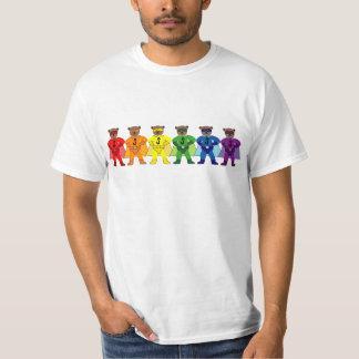 虹のプライドによってすごいくま Tシャツ