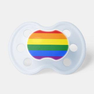 虹のプライドの旗 おしゃぶり
