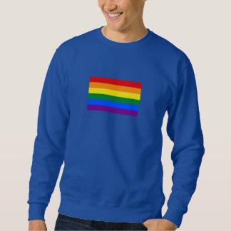 虹のプライドの旗 スウェットシャツ