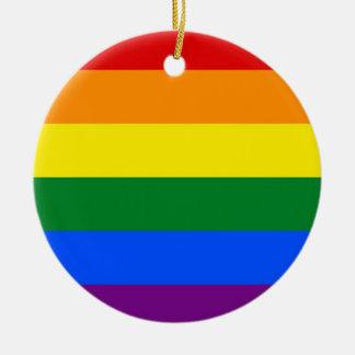 虹のプライドの旗 セラミックオーナメント