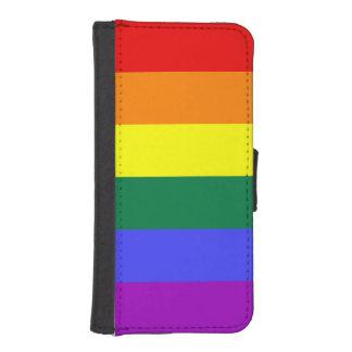 虹のプライドの旗 iPhoneSE/5/5sウォレットケース