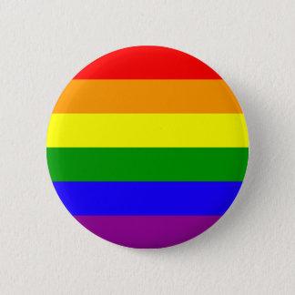 虹のプライドボタン 5.7CM 丸型バッジ