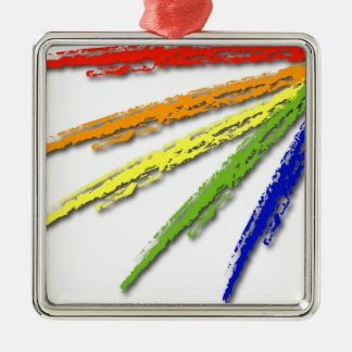虹のプライド- (一見の最も最高のなoGreyか白いワイシャツ) メタルオーナメント