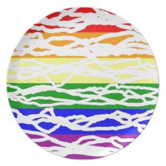 虹のプレート プレート