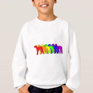 虹のベドリントン・テリア スウェットシャツ