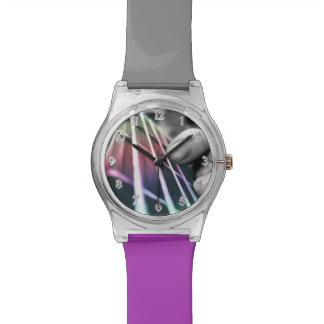 虹のベースギターの首音楽腕時計 腕時計