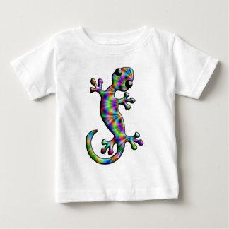 虹のペイズリーの登山のヤモリのトカゲ ベビーTシャツ