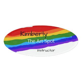 虹のペンキは名前入りなでます 名札