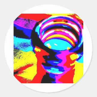 虹のボトル ラウンドシール