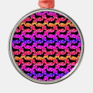 虹のポルカのダックスフント メタルオーナメント