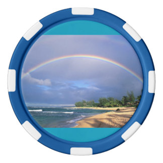 虹のポーカー用のチップ ポーカーチップ