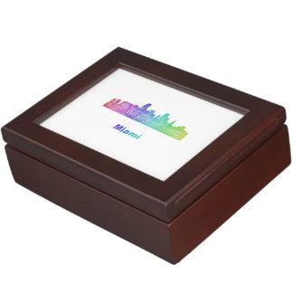 虹のマイアミのスカイライン ジュエリーボックス