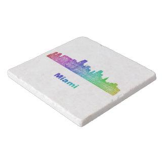 虹のマイアミのスカイライン トリベット