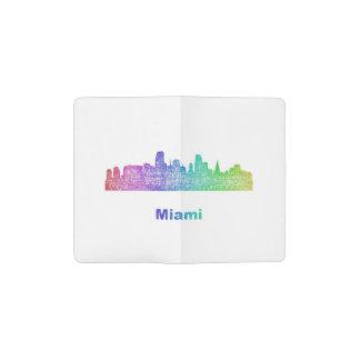 虹のマイアミのスカイライン ポケットMoleskineノートブック