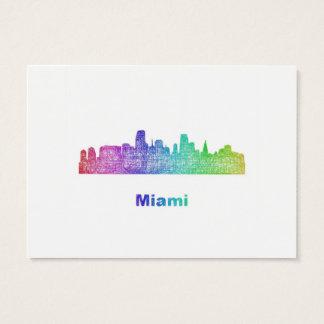 虹のマイアミのスカイライン 名刺