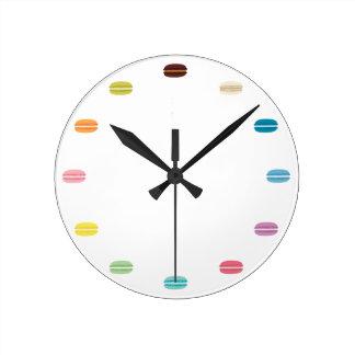 虹のマカロン ラウンド壁時計