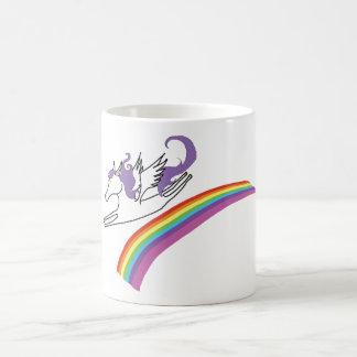 虹のマグ上のペガソス コーヒーマグカップ