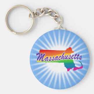 虹のマサチューセッツ州 キーホルダー