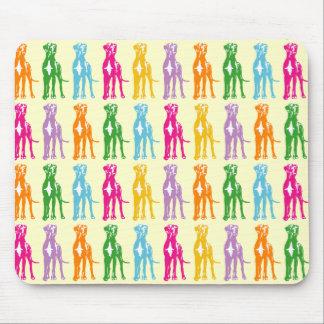 虹のマスティフパターン マウスパッド