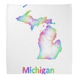 虹のミシガン州の地図 バンダナ