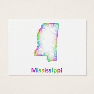 虹のミシシッピーの地図 名刺