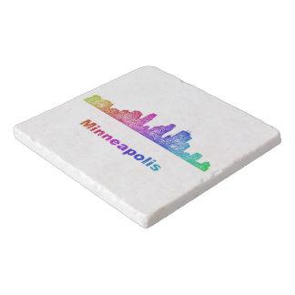 虹のミネアポリスのスカイライン トリベット