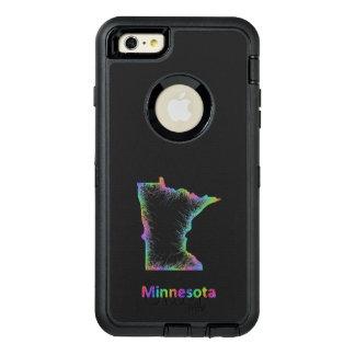 虹のミネソタの地図 オッターボックスディフェンダーiPhoneケース