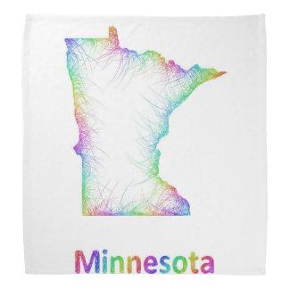 虹のミネソタの地図 バンダナ