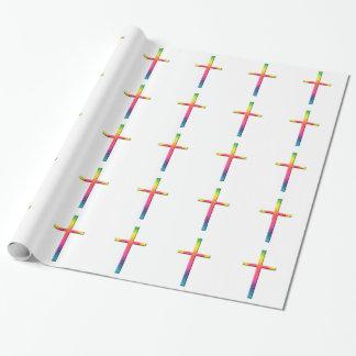 虹のモザイク十字 包装紙