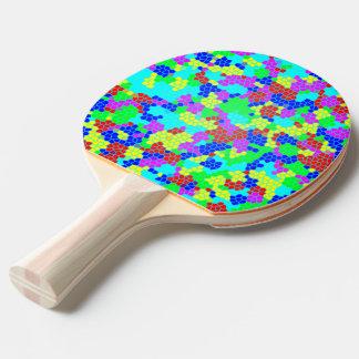 虹のモザイク 卓球ラケット