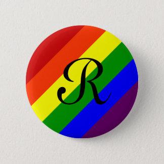 虹のモノグラムボタン 缶バッジ