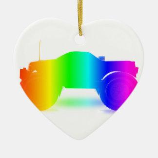 虹のモンスタートラック セラミックオーナメント